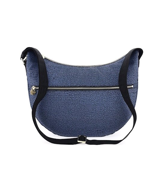 Borbonese Luna bag Middle 934108I15 blu/nero